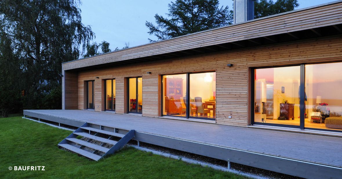 ... Bungalow-Holzhaus Modern Bungalow - Timber home ...