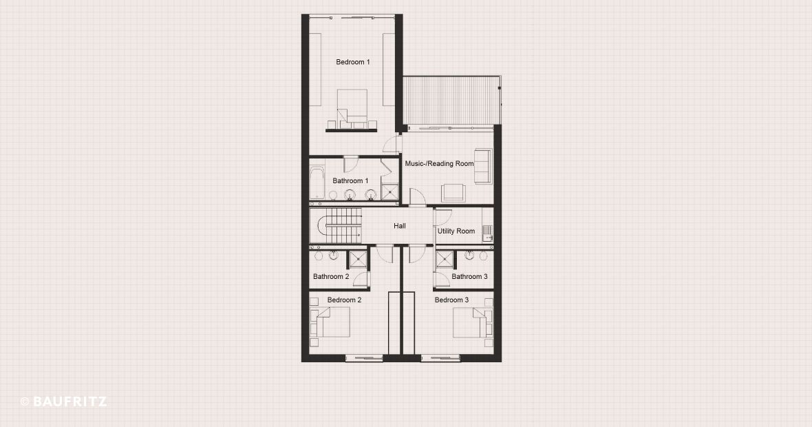 Floor plans urban home webb urban homes baufritz for Urban house plans