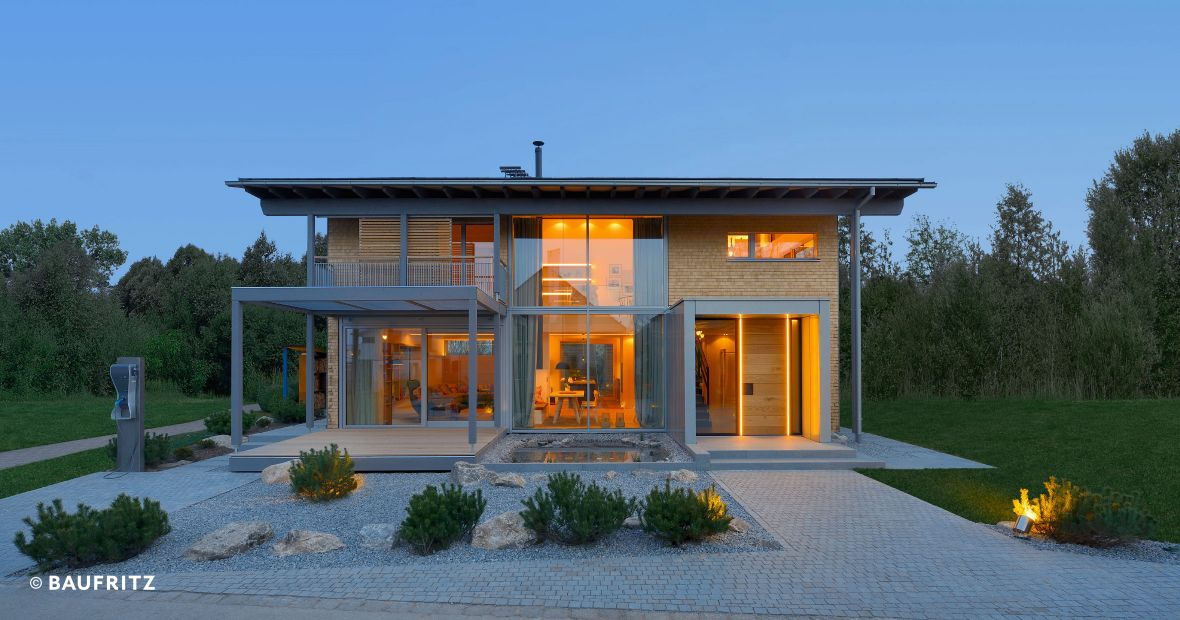 Energiesparhaus aus Holz Show House Alpenchic - Timber home