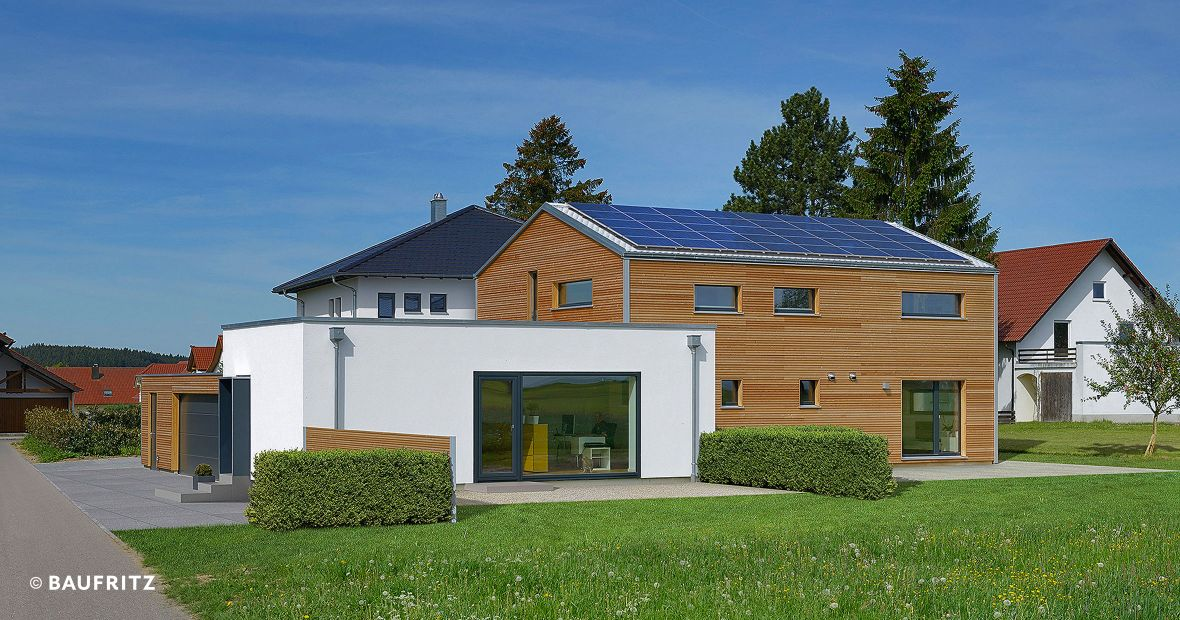 Energie-Effizienz-Haus Plus Energy House Wriedt - Timber home