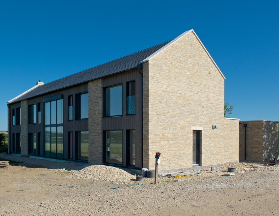 Baufritz House in Gloucestershire Complete