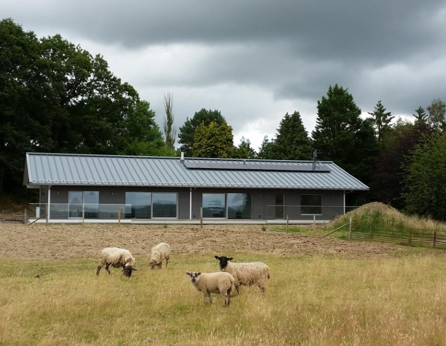 Baufritz House in North Herefordshire Complete