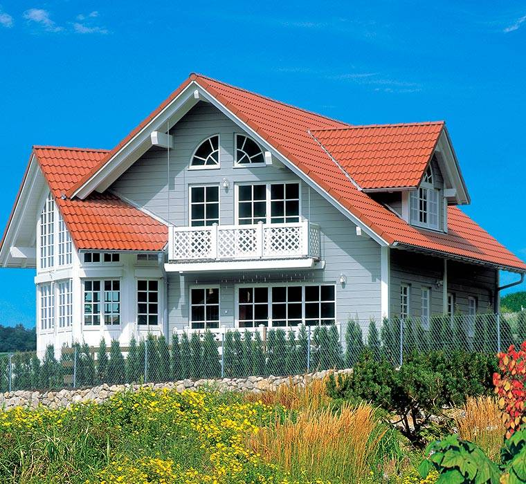 New england style houses homes baufritz for New american style homes