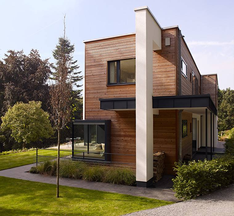 Modern house home designs by baufritz eco friendly for Mordern house